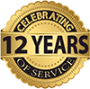 12 years in service