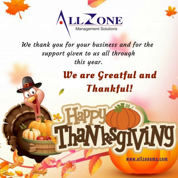 Allzone Wishes Happy ThanksGiving!